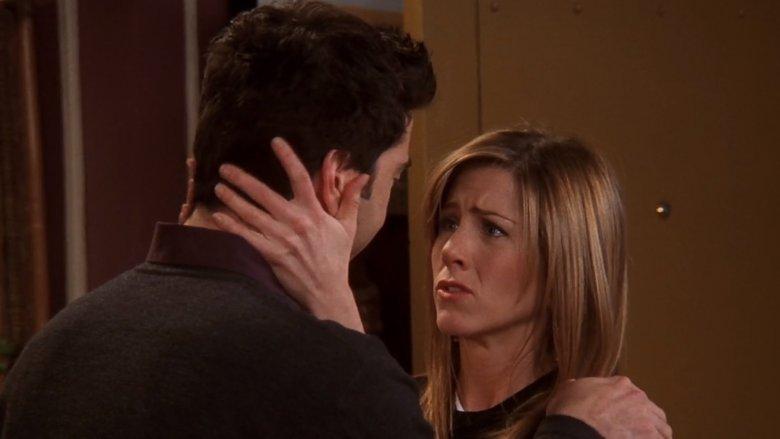 راس و ریچل در یکی از سکانسهای حساس قسمت آخر سریال
